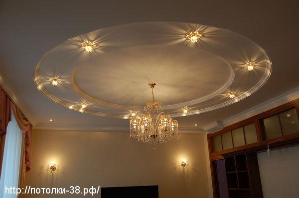 Натяжной потолок в гостинную 7