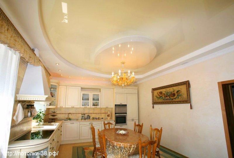 Натяжной потолок в кухню 2