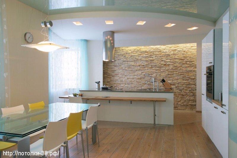 Натяжной потолок в кухню 8