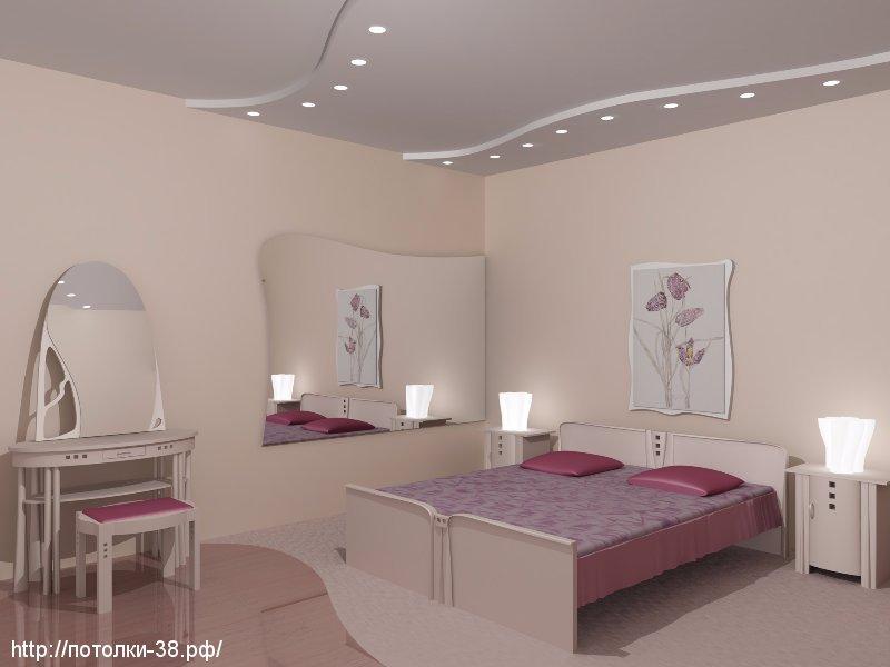 Натяжной потолок в спальне 2
