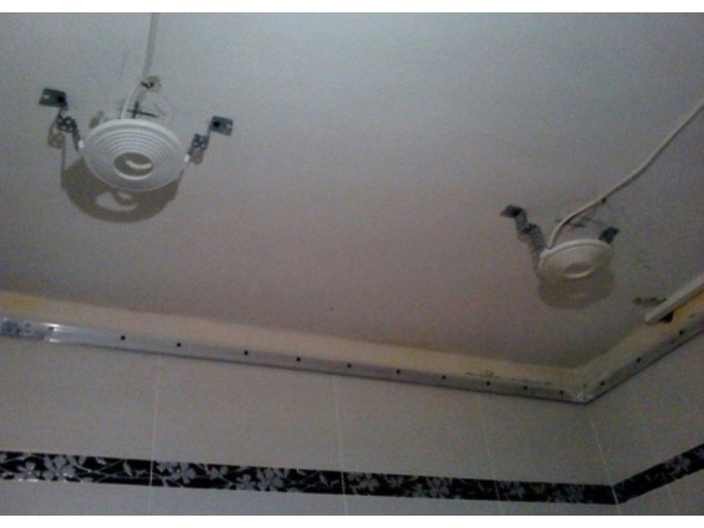 Этап 2 - монтаж закладных для осветительных приборов , датчиков сигнализации и потолочной гардины.